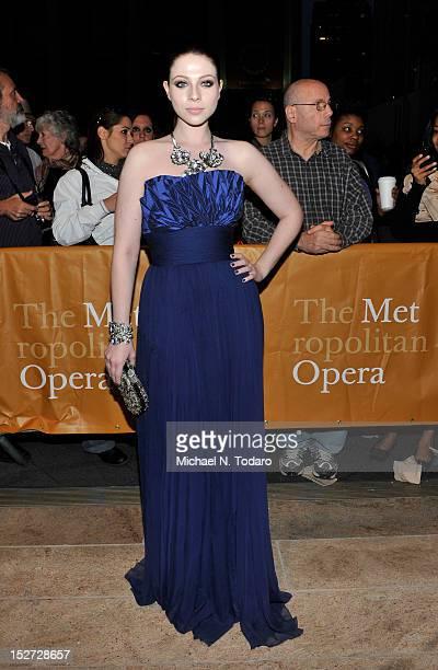Michelle Trachtenberg attends the 2012 Metropolitan Opera season opening night performance of L'Elisir D'Amore at The Metropolitan Opera House on...