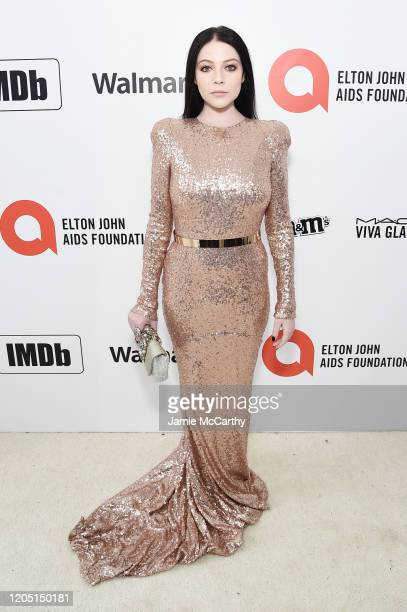 Michelle Trachtenberg attends the 28th Annual Elton John AIDS Foundation Academy Awards Viewing Party sponsored by IMDb Neuro Drinks and Walmart on...