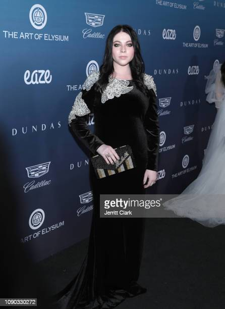 Michelle Trachtenberg attends The Art Of Elysium's 12th Annual Celebration Heaven Arrivals on January 05 2019 in Los Angeles California