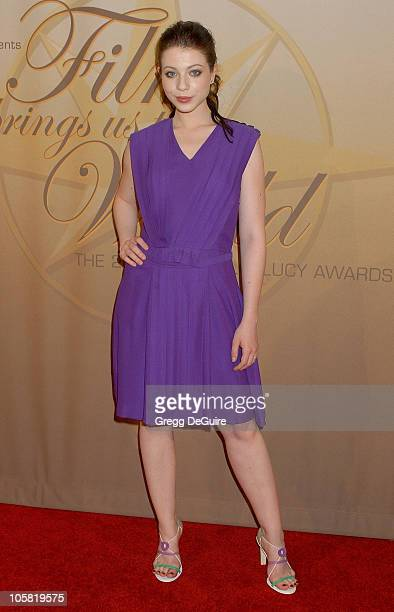 Michelle Trachtenberg during 2006 Women In Film Crystal + Lucy Awards - Arrivals at Century Plaza Hotel in Century City, California, United States.