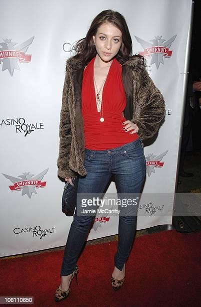 Michelle Trachtenberg during Smirnoff Vodka Casino Royal and DJ AM Host Shaken and Stirred DJ Contest at Tenjune in New York City New York United...