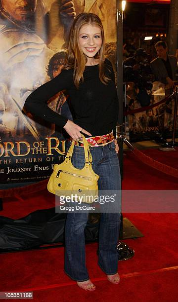 Michelle Trachtenberg during 'The Lord Of The RingsThe Return Of The King' Los Angeles Premiere at Mann Village Theatre in Westwood California United...