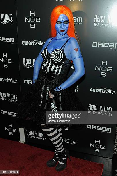 Michelle Tractenberg attends Heidi Klum's 12th annual Halloween party at the PHD Rooftop Lounge at Dream Downtown on October 31 2011 in New York City
