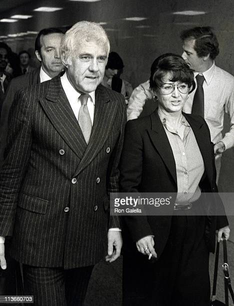 Michelle Triola and Marvin Mitchelson during Triola vs Marvin Case at LA County Court House in Los Angeles California United States