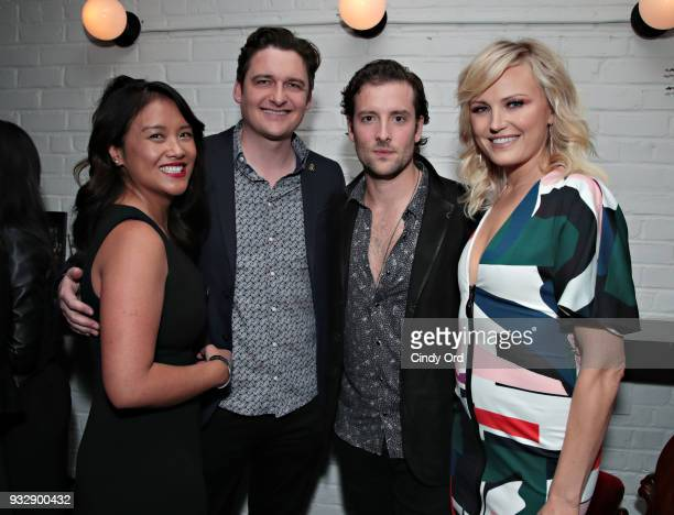 Michelle Vergara Moore Toby Leonard Moore Jack Donnelly and Malin Akerman attend the BILLIONS Season 3 Premiere at Metrograph on March 15 2018 in New...