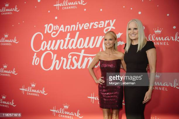 Michelle Vicary and Kristin Chenoweth arrive at the Los Angeles special screening of Hallmark Channel's A Christmas Love Story at Montage Beverly...