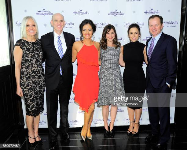 Michelle Vicary Bill Abbott Danica McKellar Kellie Martin Lacey Chabert and Ed Georger at Crown Media's Upfront Event at Rainbow Room on March 29...