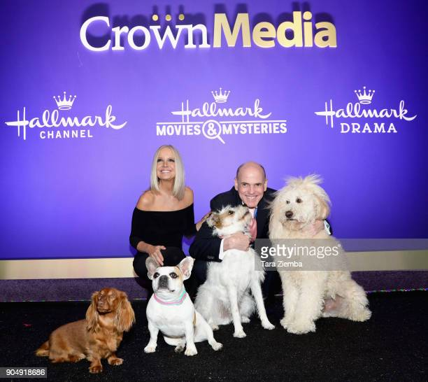 Michelle Vicary VP Programming and Network Publicity Crown Media Family Networks and Bill Abbott President and CEO Crown Media Family Networks attend...