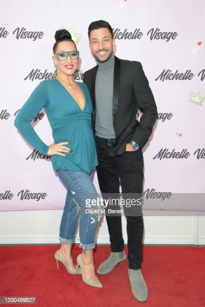 Michelle Visage and Giovanni Pernice attend RuPaul's DragCon UK presented by World Of Wonder at Olympia London on January 19 2020 in London England