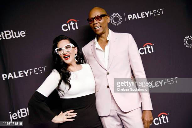 Michelle Visage and RuPaul attend the Paley Center for Media's 2019 PaleyFest LA 'RuPaul's Drag Race' at Dolby Theatre on March 17 2019 in Hollywood...