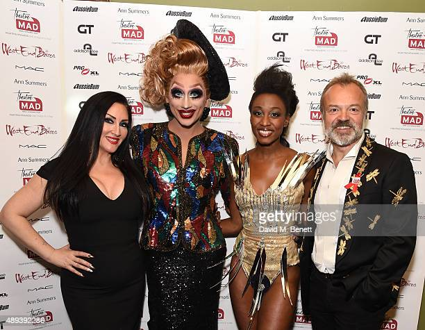Michelle Visage Bianca Del Rio Beverley Knight and Graham Norton attend West End Bares Take Off to benefit TheatreMAD at Cafe de Paris on September...