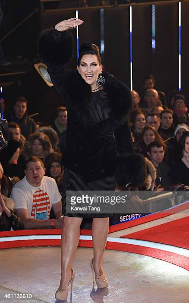 Michelle Visage enters the Celebrity Big Brother house at Elstree Studios on January 7 2015 in Borehamwood England