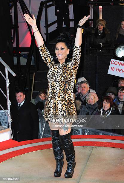 Michelle Visage is evicted from the Big Brother house during the 2015 Celebrity Big Brother Final at Elstree Studios on February 6 2015 in...