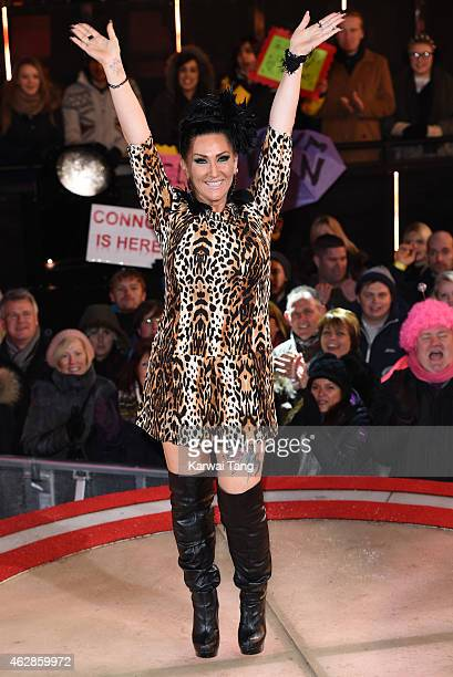 Michelle Visage is evicted from the Celebrity Big Brother house at Elstree Studios on February 6 2015 in Borehamwood England