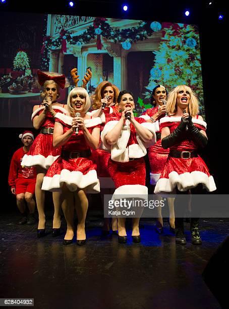 Michelle Visage Manila Luzon Phi Phi OHara Alaska Thunderfuck Detox and Katya perform during RuPaul's Drag Race Christmas Queens Show at The O2...
