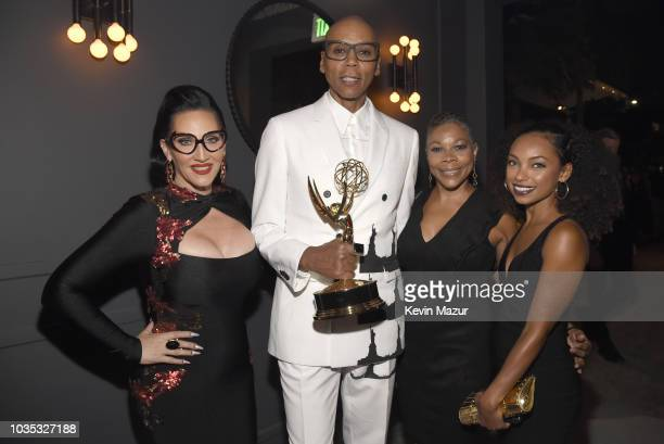 Michelle Visage RuPaul Lynda Browning and Logan Browning attend the 2018 Netflix Primetime Emmys After Party at NeueHouse Hollywood on September 17...
