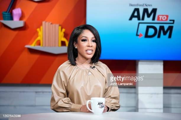 """Michelle visits BuzzFeed's """"AM To DM"""" on January 28, 2020 in New York City."""