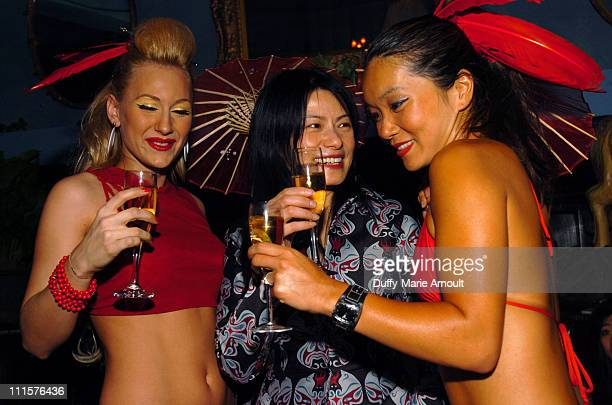 Michelle, Vivienne Tam and Helen during Vivienne Tam's Chinese New Year Party with Celebrity DJ James Iha at NA Nightclub in New York City, New York,...