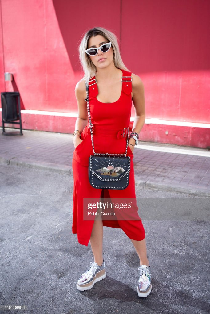 Day 6 - Street Style - Mercedes Benz Fashion Week Madrid Spring/Summer 2020 : News Photo