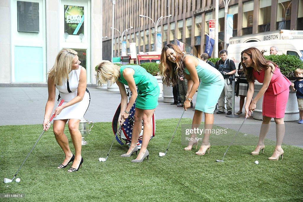 "2014 U.S. Women's Open Golf Champion Michelle Wie Visits ""FOX And Friends"""