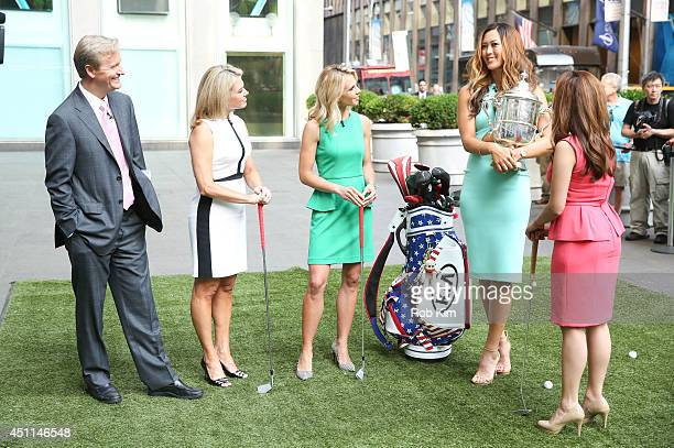 Michelle Wie 2014 US Women's Open Golf Champion with hosts Steve Doocy Heather Nauert Elisabeth Hasselbeck and Maria Molina at FOX And Friends at FOX...