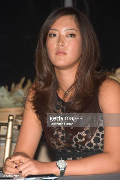 Michelle Wie during Michelle Wie Announces First Promotional Campaign as Spokesperson for Sony Holiday Campaign at Manadarin Oriental Hotel in New...