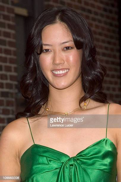 Michelle Wie during Michelle Wie Visits The Late Show with David Letterman - August 8, 2005 at Ed Sullivan Theater in New York City, New York, United...