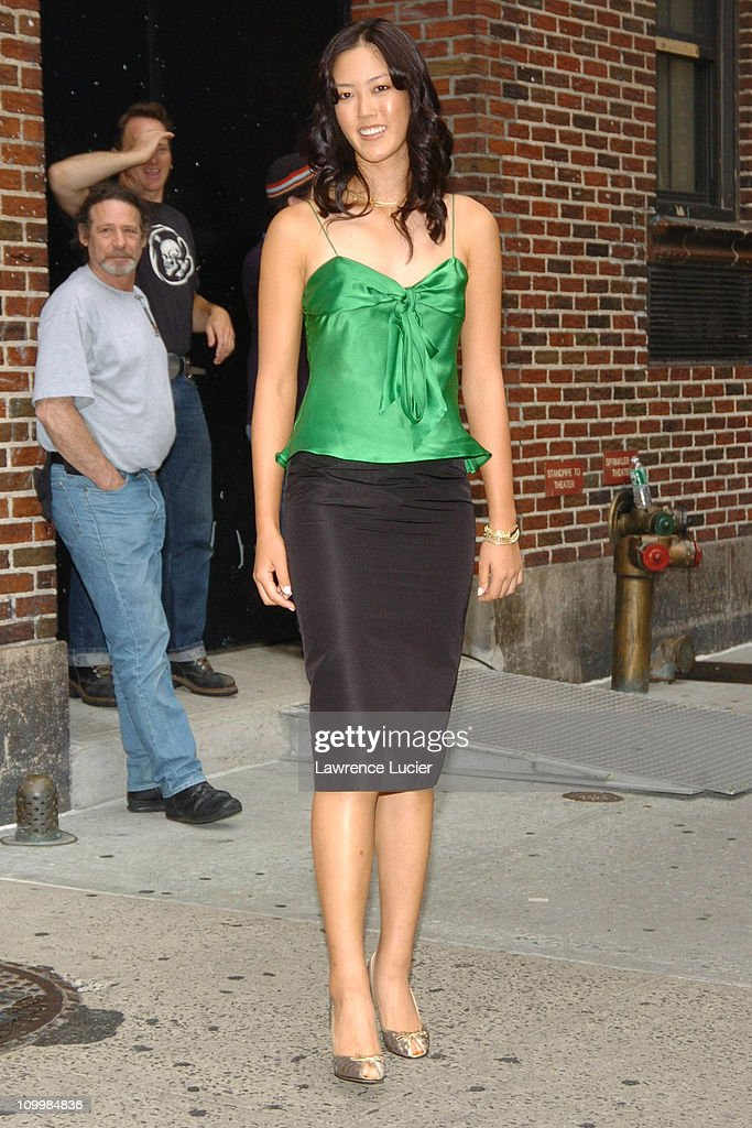 """Michelle Wie Visits """"The Late Show with David Letterman"""" - August 8, 2005"""