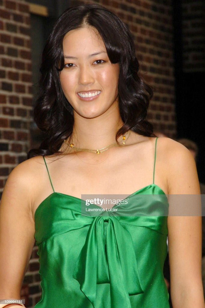 "Michelle Wie Visits ""The Late Show with David Letterman"" - August 8, 2005"