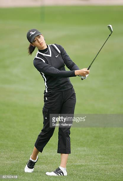 Michelle Wie hits a shot during the third round of the Safeway International at Superstition Mountain Golf and Country Club on March 19 2005 in...