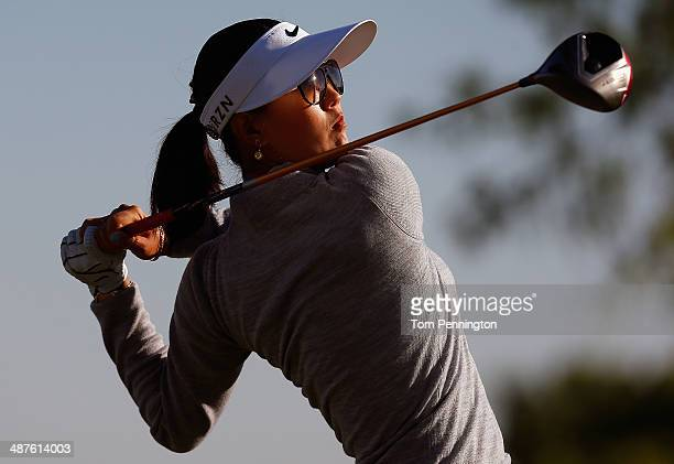 Michelle Wie hits a tee shot during Round One of the North Texas LPGA Shootout Presented by JTBC at the Las Colinas Country Club on May 1 2014 in...