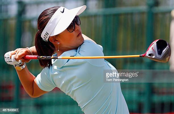 Michelle Wie hits a tee shot during Round Two of the North Texas LPGA Shootout Presented by JTBC at the Las Colinas Country Club on May 2 2014 in...