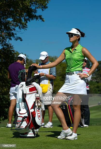 Michelle Wie looks on during the second round of the PG NW Arkansas Championship at the Pinnacle Country Club on September 11 2010 in Rogers Arkansas