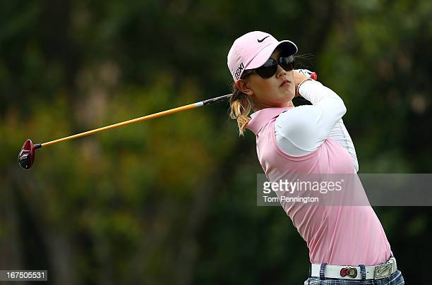 Michelle Wie of Honolulu Hawaiihits a shot during the first round of the 2013 North Texas LGPA Shootout at the Las Colinas Country Club on April 25...