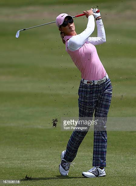 Michelle Wie of Honolulu HI hits a shot during the first round of the 2013 North Texas LGPA Shootout at the Las Colinas Country Club on April 25 2013...