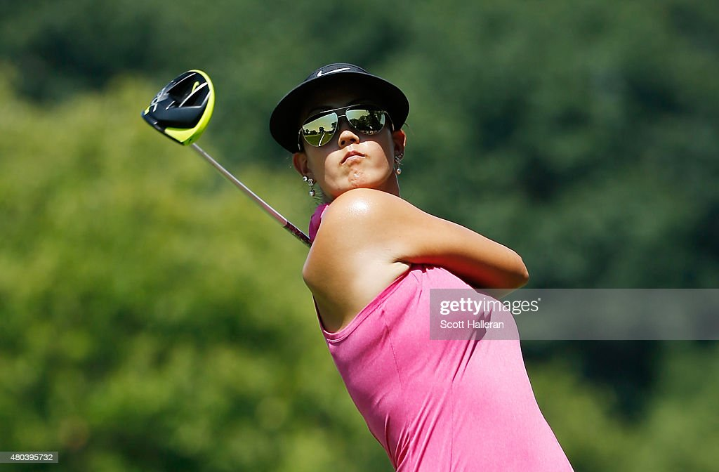 Michelle Wie of the United Staes hits her tee shot on the ninth hole during the third round of the U.S. Women's Open at Lancaster Country Club on July 11, 2015 in Lancaster, Pennsylvania.