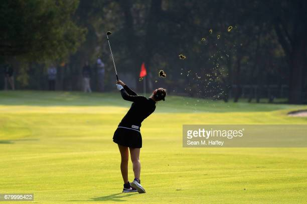 Michelle Wie of the United States hits a shot on the sixth fairway during the final round of the Citibanamex Lorena Ochoa Match Play Presented by...