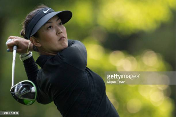 Michelle Wie of the United States plays her drive during the final round of the Citibanamex Lorena Ochoa Match Play Presented by Aeromexico and Delta...