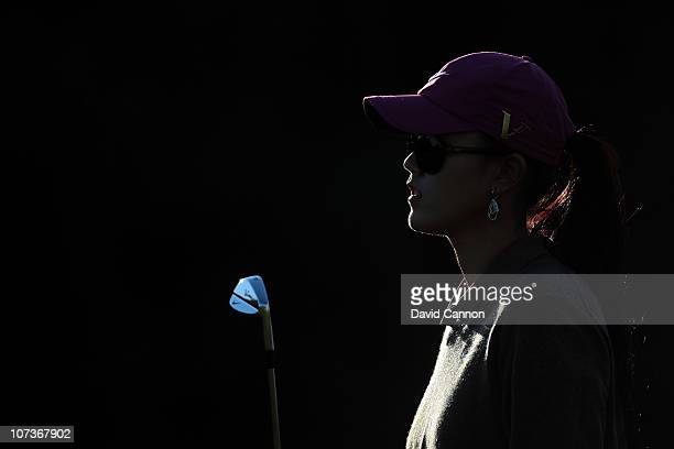 Michelle Wie of the USA during the proam as a preview for the 2010 Dubai Ladies Masters on the Majilis Course at The Emirates Golf Club on December 7...