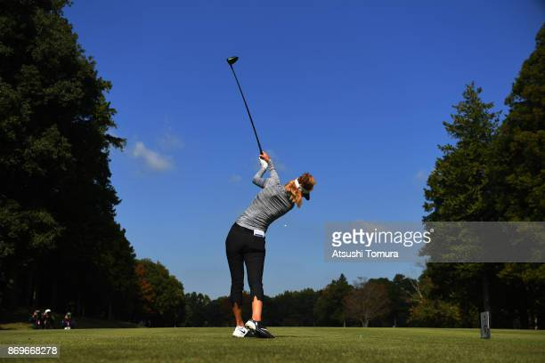 Michelle Wie of the USA hits her tee shot on the 6th hole during the first round of the TOTO Japan Classics 2017 at the Taiheiyo Club Minori Course...