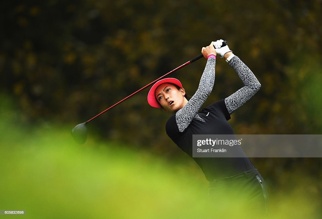Michelle Wie of USA plays a shot during the first round of The Evian Championship on September 15, 2016 in Evian-les-Bains, France.