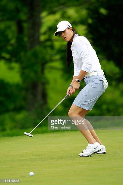 Michelle Wie putts on the first hole during round one of the Sybase Match Play Championship at Hamilton Farm Golf Club on May 19 2011 in Gladstone...