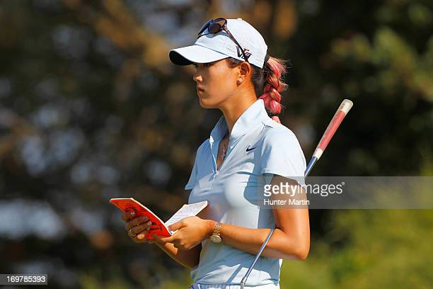Michelle Wie stands on the seventh green during round two of the ShopRite LPGA Classic Presented by Acer at Stockton Seaview Hotel and Golf Club on...