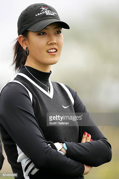 Michelle Wie waits on the third tee during the third round of the Safeway International on March 19 2005 at Superstition Mountain Golf and Country...