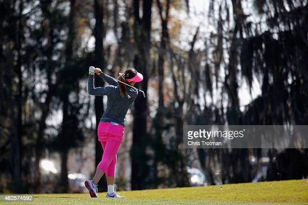 Michelle Wie watches on the 10th hole at the Coates Golf Championship Presented by RL Carriers Final Round at the Golden Ocala Golf Equestrian Club...