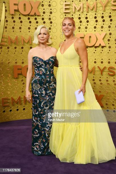 Michelle Williams and Busy Phillips attend the 71st Emmy Awards at Microsoft Theater on September 22, 2019 in Los Angeles, California.