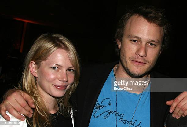 "Michelle Williams and Heath Ledger during ""Awake and Sing!"" Opening Night - After Party at Marriott Marquis Ballroom in New York City, New York,..."