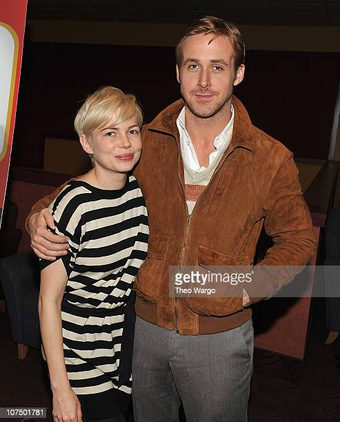 Michelle Williams and Ryan Gosling attend a screening of 'Blue Valentine' during the 2010 Variety New York Screening Series at Chelsea Clearview...