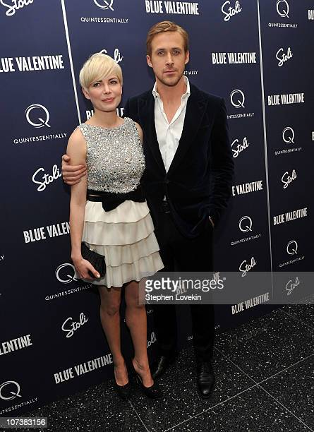 Michelle Williams and Ryan Gosling attend the New York premiere of 'Blue Valentine' hosted by Quintessentially at The Museum of Modern Art on...