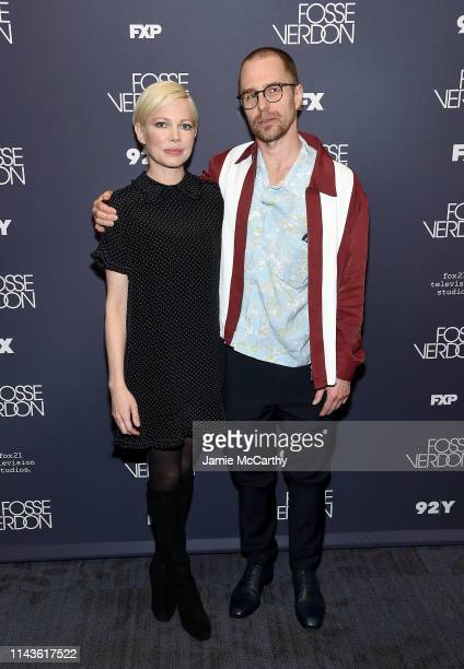 """Michelle Williams and sam Rockwell attend the """"Fosse/Verdon"""" Screening And Conversation at 92nd Street Y on April 18, 2019 in New York City."""